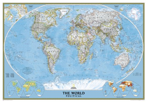 Mapa mural del mundo classic gigante (3 partes) 289x193 cm. Inglés. National Geographic.: Political: 3 Parts (National Geographic Reference Map)