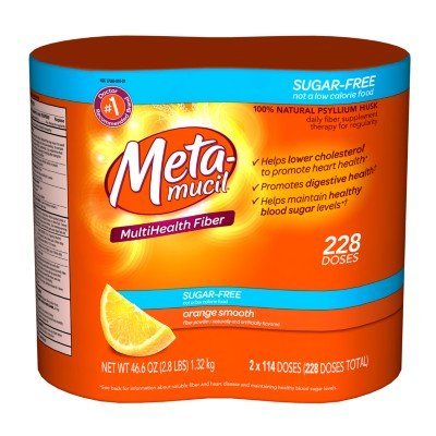 Metamucil Orange Sugar Free Smooth Powder - 228 Doses