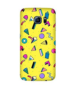 Yellow Graphic Back Cover Case for Samsung Galaxy S6