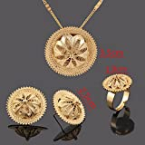 Ethiopian-Necklace-Pendant-Earring-Ring-Set-Gold-Filled-Eretrian-African-Jewelry