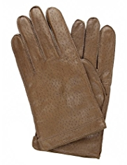 Leather Punch Hole Gloves