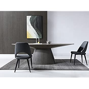 "Modern 95"" Oval Conference Table in Gray Oak"