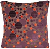 Purple Circles Design Decorative Throw Pillow Case Galaxy Pattern Velvet Cushion Cover Marvic