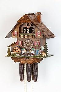 Alemán 8 días de movimiento del reloj de cuco Chalet de estilo 38 cm - Auténtico reloj de cuco del bosque negro por Hekas por Hekas