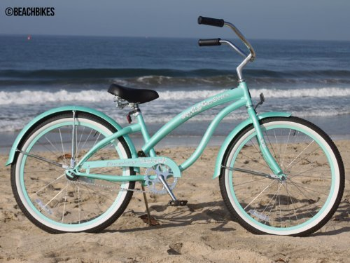 Firmstrong Bella Classic Single Speed Beach Cruiser Bicycle 24Inch Mint Gr