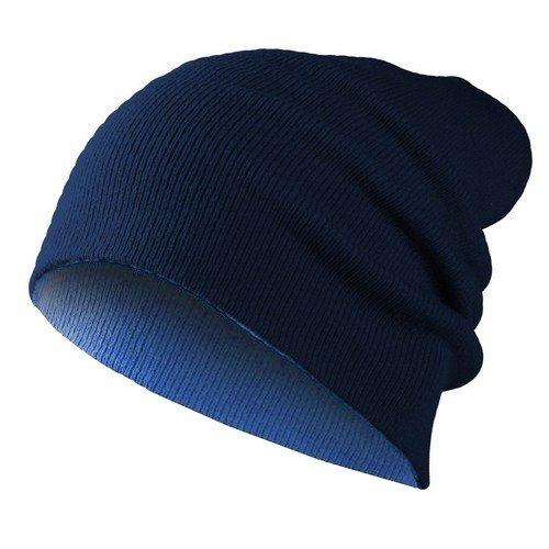 Hatstar - Berretto in maglia - Basic - Donna reversible - saphire blue / navy Taglia unica