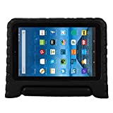 Fire 7 case,Fire 7 2015 Case,TRAVELLOR®Kids Shock Proof Convertible Handle Light Weight Super Protective Stand Cover for Amazon Fire Tablet (7 inch Display, 2015 Release Only)(Dark black)