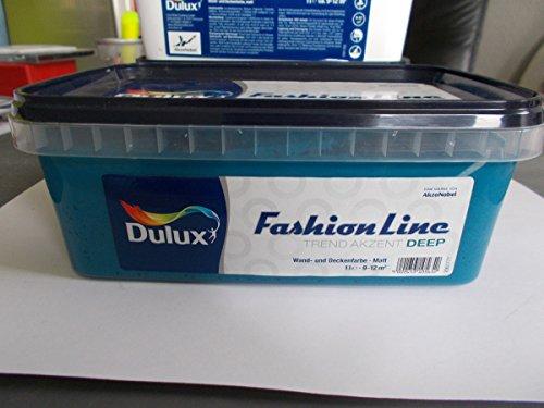 Dulux fashion line wandfarbe 1l deep blau matt for Wandfarbe deep