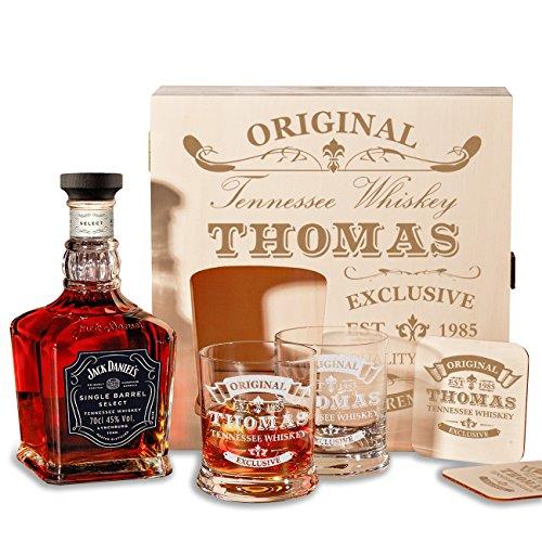 caisse-en-bois-avec-jack-daniels-single-baril-tennessee-whiskey-6-pieces-coffret-cadeau-whisky-avec-