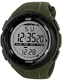 amazon in digital watches skmei sk1025armgrn sports digital watch stopwatch alarm army green for men and boys