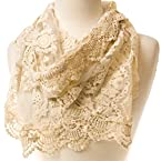 Ivory Embroidered Scarf