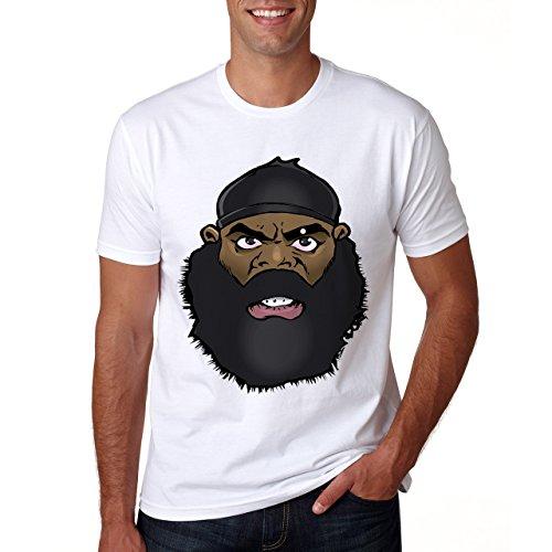 KIMBO SLICE CARTOON FACE-Maglietta da uomo bianco XXL