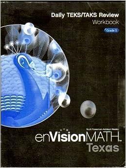 Daily TEKS/TAKS Review Workbook, Grade 5 (enVisionMath, Texas, Scott