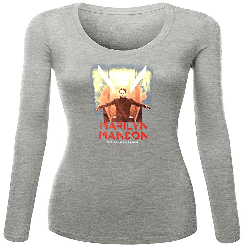 Marilyn Manson For 2016 Womens Printed Long Sleeve tops t shirts