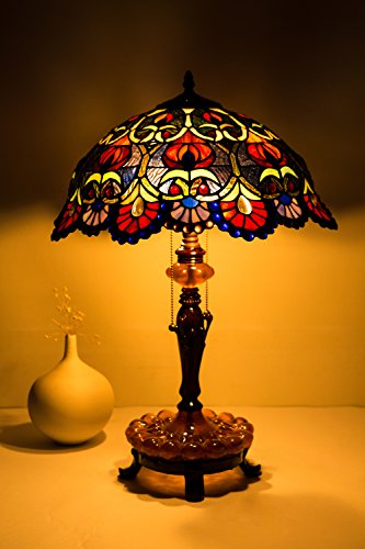 Follower Tiffany Table Lamp Desk Lamp Living Room and Bedroom Boys and Girls Bedroom Lights Bedside Desk Lamp Table Lamp (Small Stained Glass Lamp Shade compare prices)