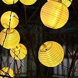 InnooTech 20er LED Solar Lichterkette Lampions Garten Außen Innen 3,3 Meter warmweiß