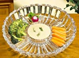 Crystal straightforward Alexandria Sectional Dish/Platter, 10-Inch