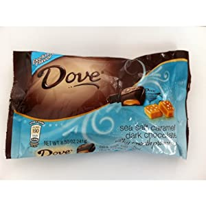 Dove Silky Smooth Sea Salt Caramel Dark Chocolate - 8.50 OZ Bag - Pack Of 2