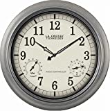 La Crosse Technology WT-3181P  18&quot; Outdoor Atomic Wall Clock with Temperature/Humidity