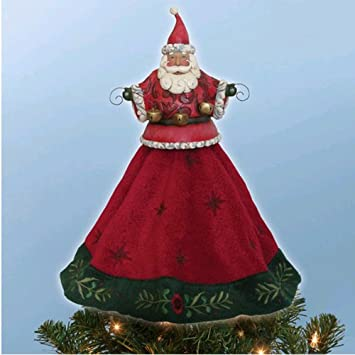#!Cheap Jim Shore Santa Christmas Tree Topper