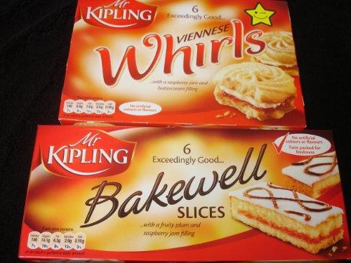 Mr Kipling Bakewell Slices & Viennese Whirls (Mr Kipling British Fancies compare prices)