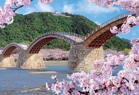 300ピース 桜風の錦帯橋 73-153