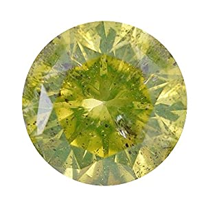 2 Carat Total Weight Round Lime-Yellow I2 Quality Loose Beautiful Diamond