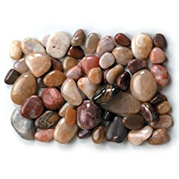 Bulk Buy: Darice DIY Crafts River Rocks Assorted Colors 1 kilogram (10-Pack) 2450-05