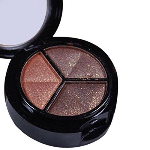 Orangeskycn Smoky Cosmetic Set 3 colors Professional Natural Matte Makeup Eye Shadow (D)