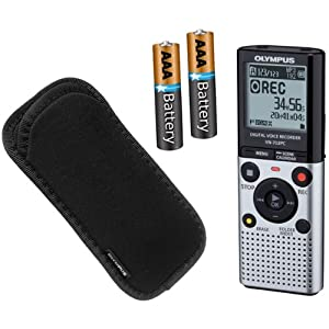 Olympus VN-702PC Voice Recorder with Bonus Case & 2 AAA Batteries
