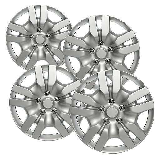 OxGord Hubcaps for Nissan Altima 2009-2012 Set of 4 Pack 16