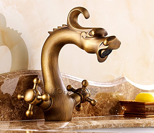 Vintage style bathroom sink faucets