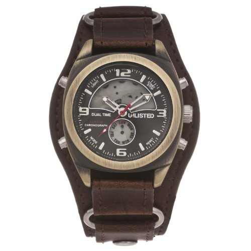 Unlisted by Kenneth Cole Men's Analog-digital Leather Cuff Watch UL1138