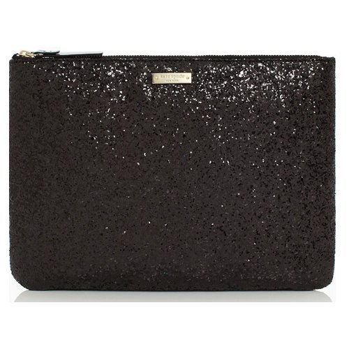 Kate Spade New York Black Sparkler Gia Cosmetic Pouch front-1031261