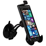 Tigerbox® Premium 360° Rotating In Car Windscreen Suction Mount Holder Cradle For Nokia Lumia 510, 520, 525, 530, 610, 620, 710, 720, 800, 810, 820, 900 handsets.