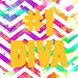 Diva Chevron by Grey Jace fine Art Print on PAPER 37 x 37 Inches