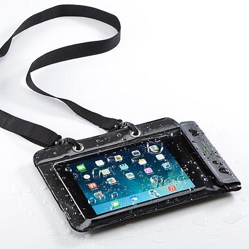 サンワダイレクト iPad mini 3 Nexus7 防水ケース お風呂 対応 7インチ 汎用 スタンド機能 ストラップ付 200-PDA126