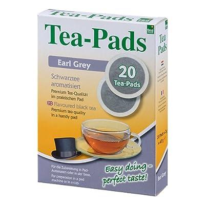 10 Packungen mit je 20 Tea Pads Schwarztee Earl Grey für Pad und Siebträgermaschinen von Tea Friends von Tea-Friends bei Gewürze Shop