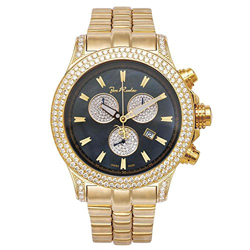 Joe Rodeo Diamond Men's Watch - MASTER PILOT gold 7 ctw