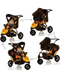 Hauck Freerider Tandem Shop n Drive Travel System (inc Carseat) Brown/Black