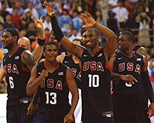 Lebron James-chris Paul-kobe Bryant-dwayne Wade Usa Olympic Basketball 8x10 Sports Action Photo (xlt)