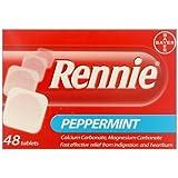 HayMax Rennie Peppermint 48 Heartburn & Indigestion Relief Chewable Tablets