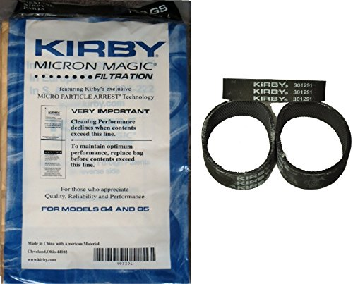 Kirby NEW 9 Micron Vacuum Cleaner Bags G4 & G5 with belts (Vacuum Cleaner Bags For Kirby compare prices)
