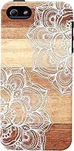 DailyObjects White Doodles On Blonde Wood Tough Case For iPhone 5/5S
