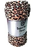 Cozy Fleece Cozy Plush Throw Blanket, 50 by 60 Inch, Leopard