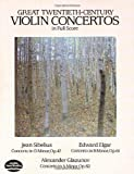 Great Twentieth-Century Violin Concertos in Full Score