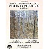 Great Twentieth-Century Violin Concertos in Full Score (Dover Music Scores) ~ Jean Sibelius