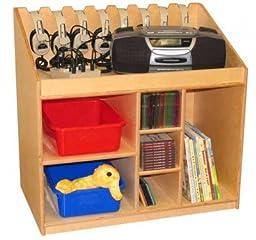 Wood Designs WD18150 Mobile Listening & Storage Center, 29 x 30 x 18\