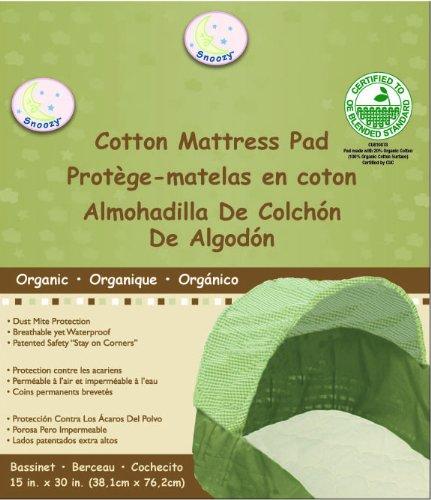 Snoozy 100% Organic Cotton Bassinet Pad Beige