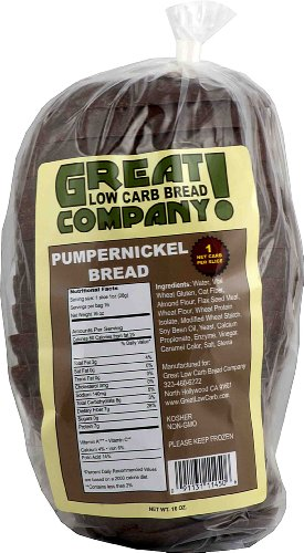 Great Low Carb Bread Co. - Pumpernickel Bread (Low Carb Breads compare prices)